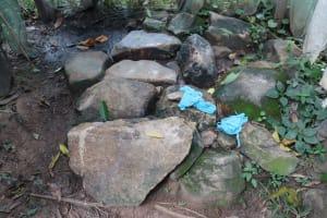 The Water Project: Shitavita Community, Patrick Burudi Spring -  Bathing Shelter Rock Floor With Washcloths