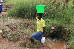 The Water Project: Shitavita Community, Patrick Burudi Spring -  Carrying Water