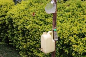 The Water Project: Shitavita Community, Patrick Burudi Spring -  Improvised Handwashing Containers With Liquid Soap