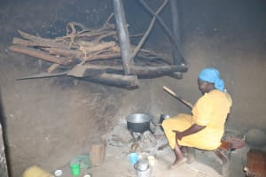 The Water Project: Shitavita Community, Patrick Burudi Spring -  Mrs Burudi Preparing A Meal