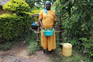The Water Project: Shitavita Community, Patrick Burudi Spring -  Mrs Burudi Preparing Vegetables