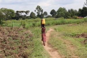 The Water Project: Shitavita Community, Patrick Burudi Spring -  Young Girl Carrying Water