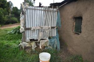 The Water Project: Silungai B Community, Tali Saya Spring -  Bathing Room