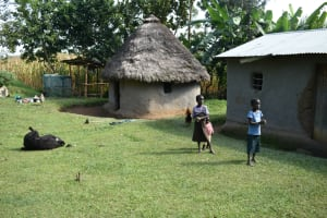 The Water Project: Silungai B Community, Tali Saya Spring -  Children Outside Their Home