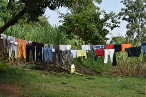 The Water Project: Silungai B Community, Tali Saya Spring -  Clothesline