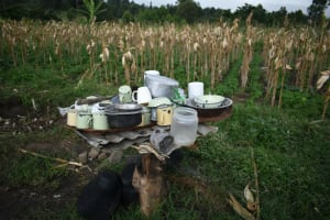 The Water Project: Silungai B Community, Tali Saya Spring -  Dishrack