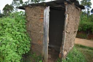 The Water Project: Silungai B Community, Tali Saya Spring -  Latrine