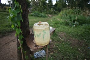 The Water Project: Silungai B Community, Tali Saya Spring -  Leaky Tin With Soap For Handwashing