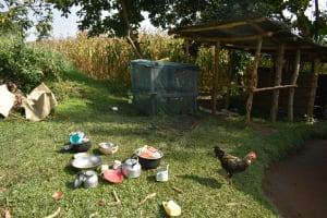 The Water Project: Silungai B Community, Tali Saya Spring -  Utensils Drying