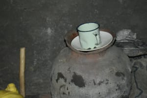 The Water Project: Silungai B Community, Tali Saya Spring -  Clay Pot Storing Drinking Water