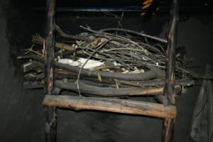 The Water Project: Silungai B Community, Tali Saya Spring -  Firewood Stand Inside Kitchen