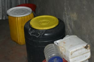 The Water Project: Silungai B Community, Tali Saya Spring -  Plastic Water Storage Containers