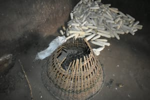 The Water Project: Mukhungula Community, Mulongo Spring -  A Hens Nest Inside The Kitchen