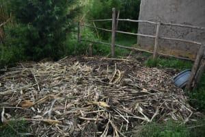 The Water Project: Mukhungula Community, Mulongo Spring -  Compost Pit