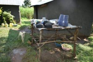 The Water Project: Mukhungula Community, Mulongo Spring -  Dishrack