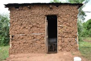 The Water Project: Mukhungula Community, Mulongo Spring -  Kitchen Exterior