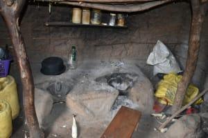 The Water Project: Mukhungula Community, Mulongo Spring -  Kitchen Interior Fireplace