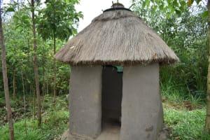 The Water Project: Mukhungula Community, Mulongo Spring -  Latrine