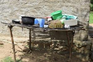 The Water Project: Kaketi Community B -  Dish Drying Rack