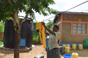 The Water Project: Kaketi Community B -  Hanging Clothes On The Line