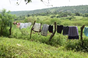 The Water Project: Kaketi Community C -  Clothes Hang To Dry