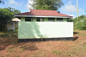 The Water Project: Kalisasi Secondary School -  Staff Latrines