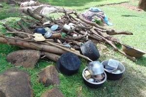 The Water Project: Indulusia Community, Yakobo Spring -  Improvised Dishrack