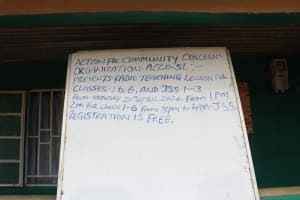 The Water Project: Lungi, Suctarr, #3 Lovell Lane -  Notice Board For Community Base Organisation