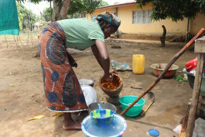 The Water Project: Lungi, Suctarr, #3 Lovell Lane -  Woman Processing Palm Oil