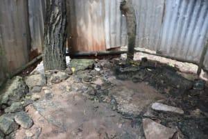 The Water Project: Lungi, Kambia, #6 Bangura St. -  Inside Bath Shelter