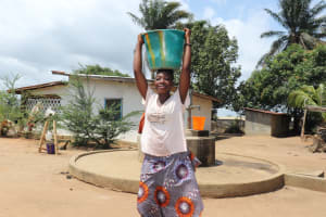 The Water Project: Lungi, Suctarr, #47 Kamara Street -  Carrying Water