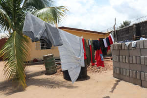 The Water Project: Lungi, Suctarr, #47 Kamara Street -  Clothesline