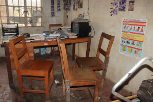 The Water Project: Lungi, Rotifunk, 22 Kasongha Road -  Inside Disable Office