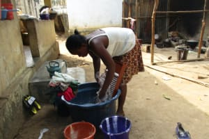 The Water Project: Lungi, Rotifunk, 22 Kasongha Road -  Young Girl Laundring