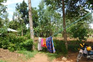 The Water Project: Khaunga A Community, Murutu Spring -  Clothesline