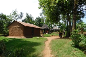 The Water Project: Khaunga A Community, Murutu Spring -  Entrance To A Family Compound