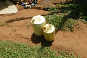 The Water Project: Khaunga A Community, Murutu Spring -  Water Storage