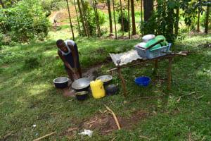 The Water Project: Mukhuyu Community, Namukuru Spring -  Doing Dishes