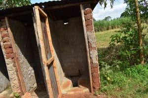 The Water Project: Mukhuyu Community, Namukuru Spring -  Latrine And Bathing Shelter