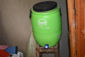 The Water Project: Mukhuyu Community, Namukuru Spring -  Water Storage Plastic Tank