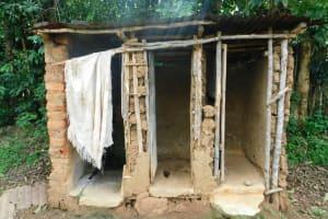 The Water Project: Musango Community, Wambani Spring -  Bathing Shelter And Latrine