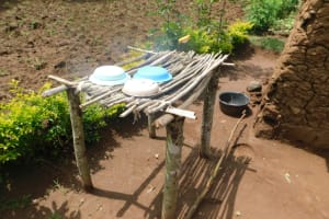 The Water Project: Musango Community, Wambani Spring -  Dishrack