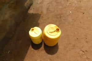 The Water Project: Musango Community, Wambani Spring -  Water Storage Containers