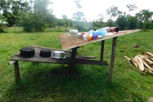 The Water Project: Maraba Community, Nambwaya Spring -  Dishrack