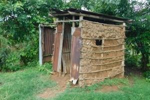 The Water Project: Maraba Community, Nambwaya Spring -  Latrine And Bathing Shelter