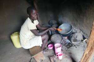 The Water Project: Maraba Community, Nambwaya Spring -  Preparing A Meal Inside The Kitchen