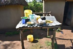 The Water Project: Emusaka Community, Muluinga Spring -  Dishrack