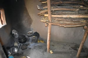 The Water Project: Emusaka Community, Muluinga Spring -  Firewood Stored In Kitchen