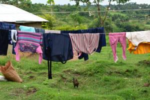 The Water Project: Bukalama Community, Wanzetse Spring -  Clothesline