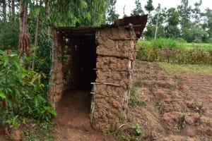 The Water Project: Bukalama Community, Wanzetse Spring -  Latrine